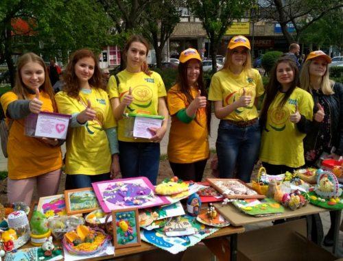 Студенты-волонтеры факультета социальной и коррекционной педагогики ВГСПУ приняли участие в V Всероссийском фестивале творчества детей и молодёжи «Пасхальная весна»