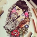 Рисунок профиля (Ибрагимова Малика)