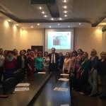 М. Плодерер с участниками встречи — учителями и преподавателями немецкого языка города и области