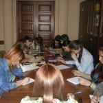 "Студенты на мастер-классе А. Вайденхолцер ""Креативное письмо"""