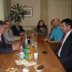 Ректор ВГСПУ проф. Сергеев принимает австрийских гостей
